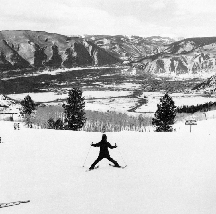 A young skier on Buttermilk Mountain about 1965. Aspen was starting to grow as a result of its ski areas, but it wasn't clear how big the community would get by 2000.
