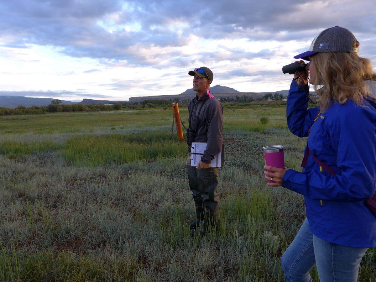 Wildlife biologist Bill Vetter and Western Rivers Regional Program Manager with Audubon Rockies Abby Burk