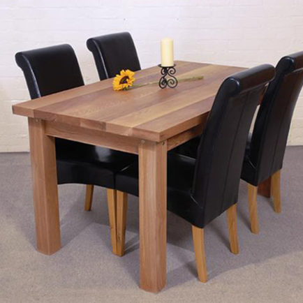 oak kitchen table henckels shears solid dining 5 x3 aspenn furniture made in yorkshire