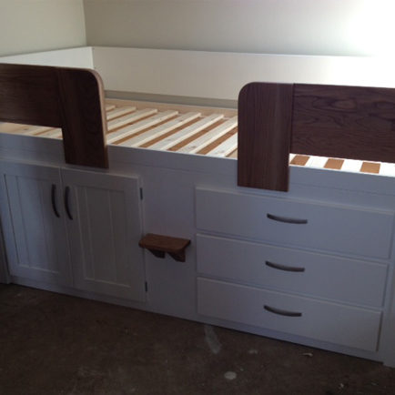 3 Drawer Kids Cabin Bed With Solid Oak Rails And Steps