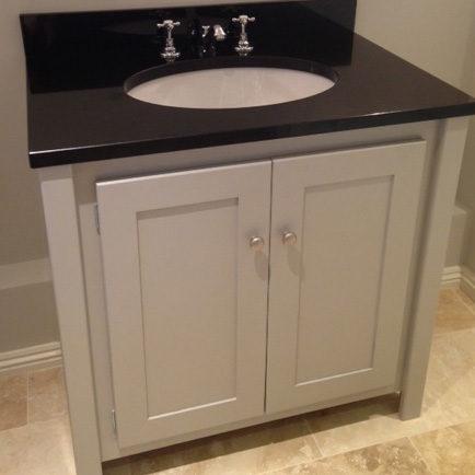 Pavilion Grey Vanity Unit with Black Granite Top  Aspenn