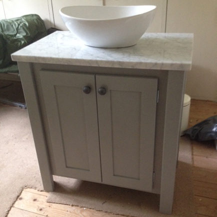 Manor Grey Vanity Unit With Carrara Marble Top Aspenn