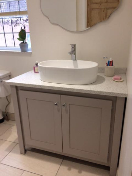 Marble Top Bathroom Vanity