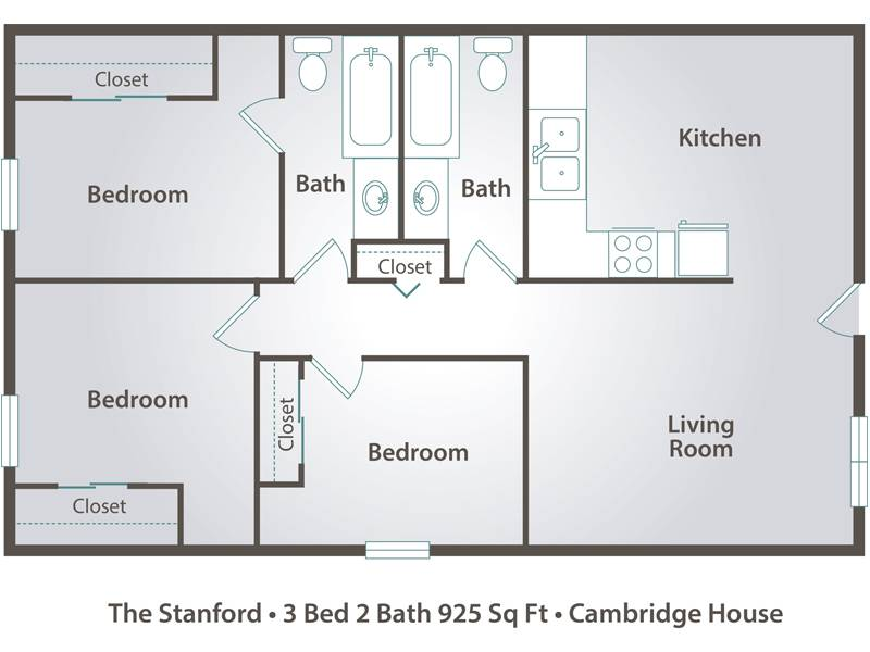 3 Bedroom Apartment Floor Plans & Pricing Cambridge