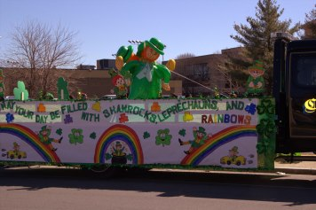 St. Patrick's Day float