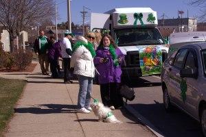 Eva, Lisa, & Molly in front of NILP van