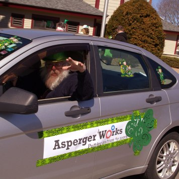 Woody in AWorks car