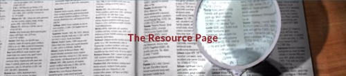 The Resource Page