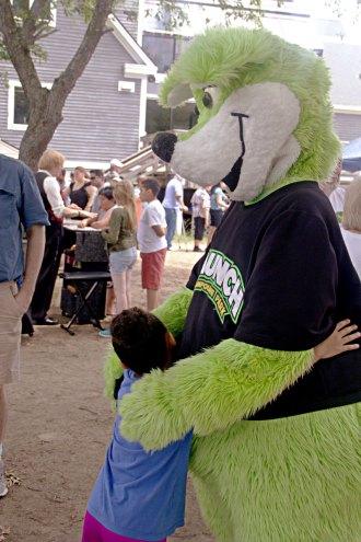 Bear hug for a mascot