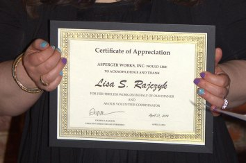 Certificate of Appreciation - Lisa