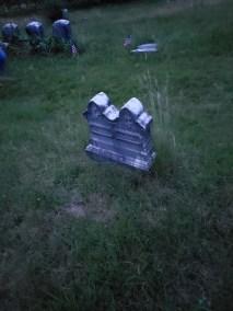 Twin gravestones