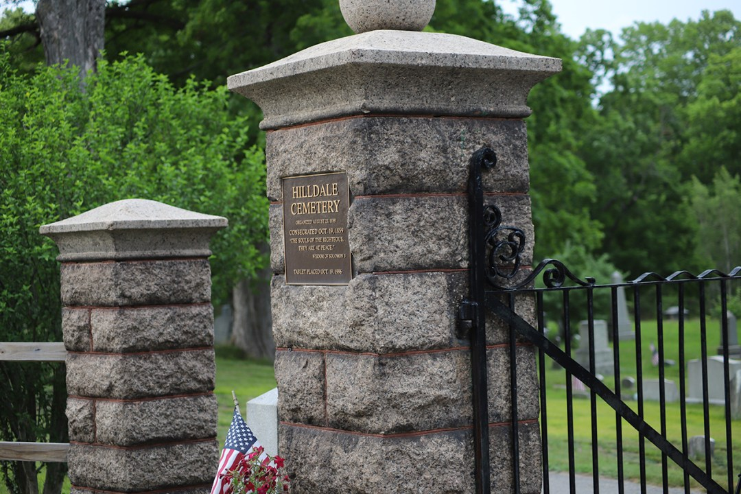 Gate at Hilldale Cemetery