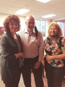 Mr. & Mrs. Morrow with Fran Hogan
