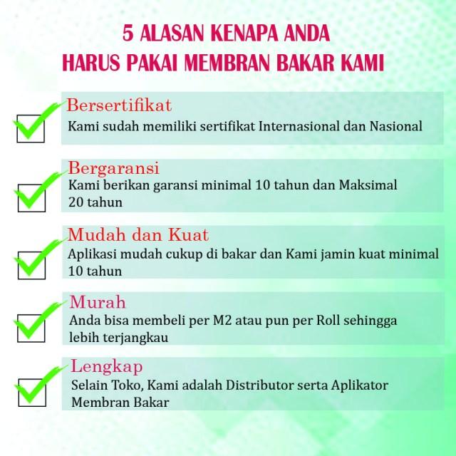 081 382 447 993 - telepon :  distributor membran bakar  di  Babakan, Kabupaten Bogor