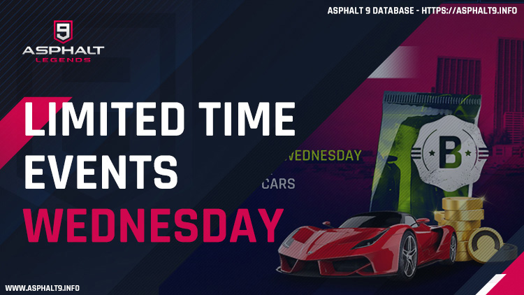 asphalt 9 limited time events wednesday