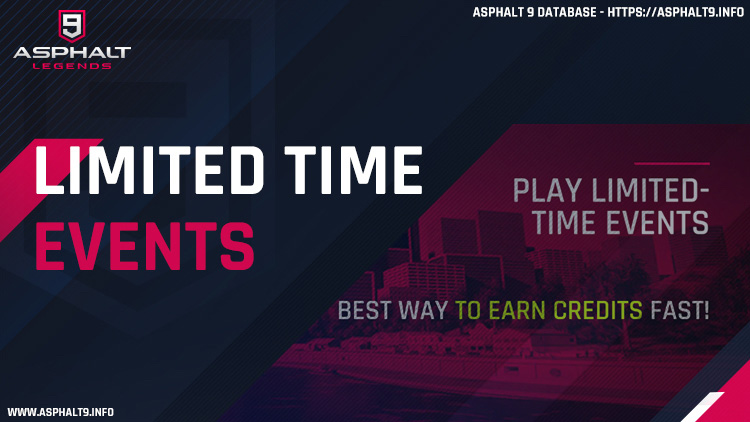 asphalt 9 limited time events