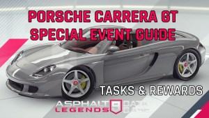 Asphalt 9 Porsche Carrera GT Guía de eventos especiales