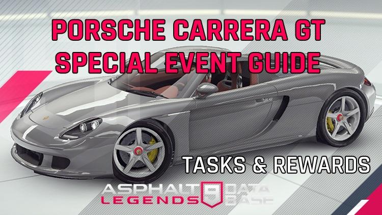 Asphalt 9 Porsche Carrera GT Special Event Guide
