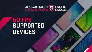 asphalt 9 60 fps appareils pris en charge