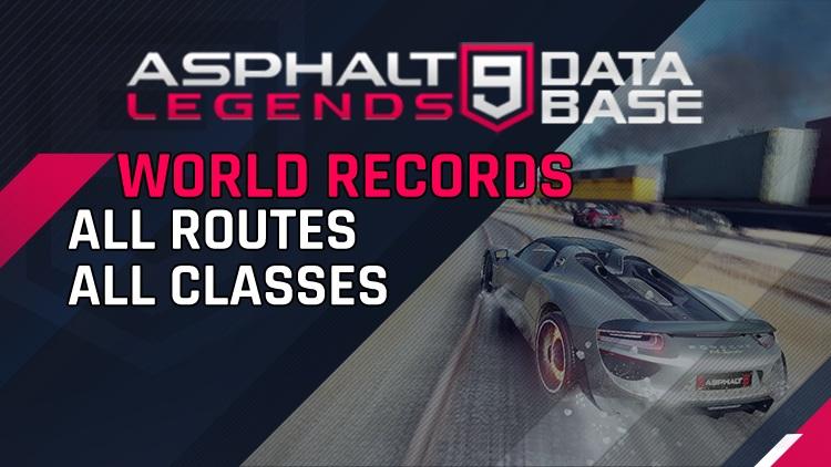 아스팔트 9 세계 기록