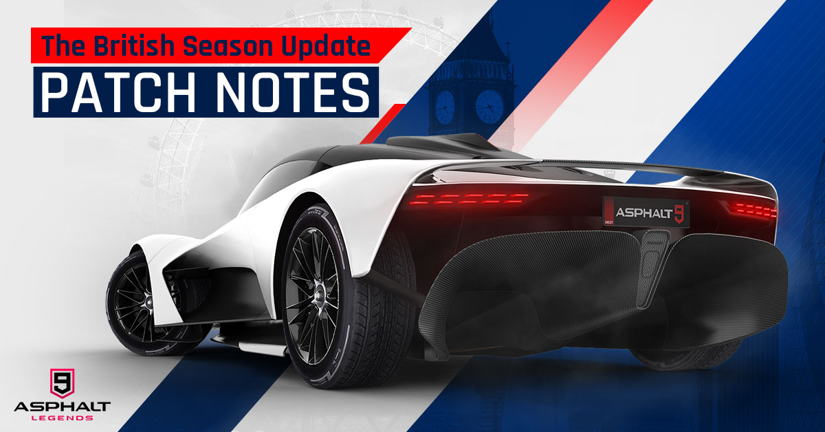 Asphalt 9 Update 14 British Season