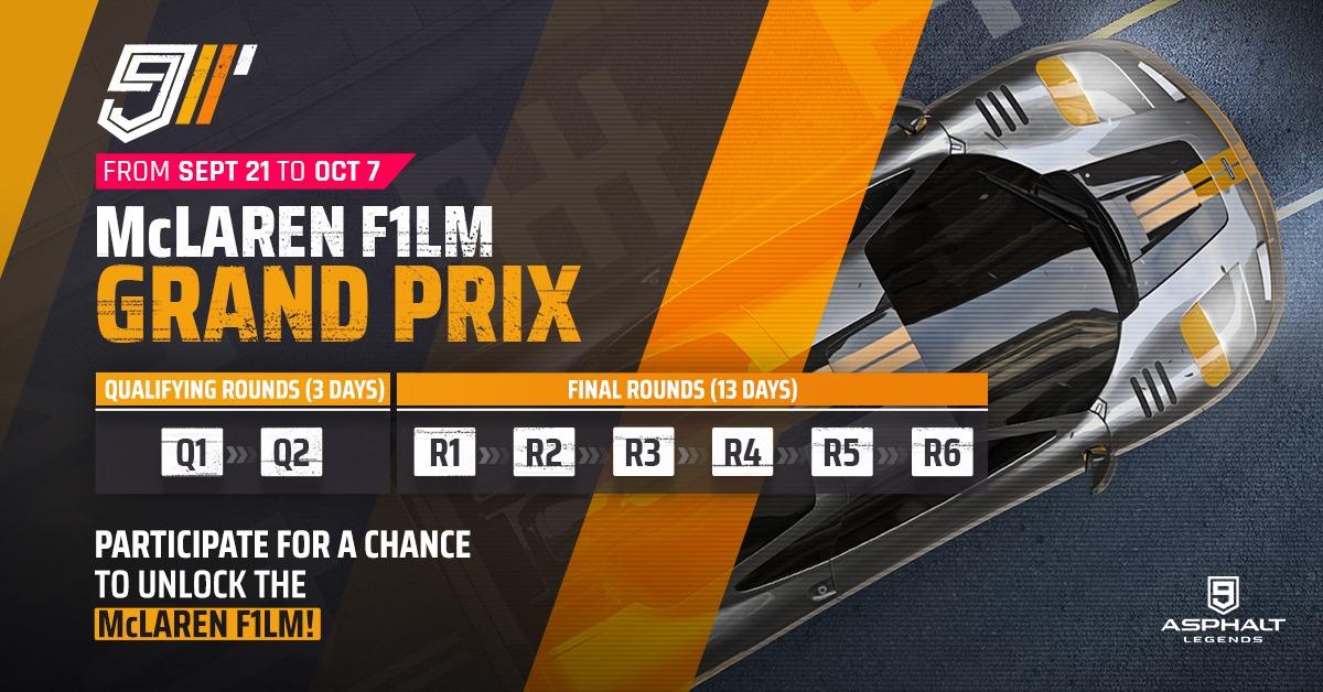 Asphalt 9 McLaren F1 LM Gran Premio