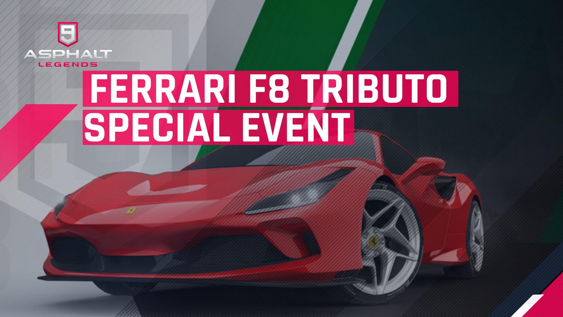 Asphalte 9 Ferrari Événement spécial F8 Tributo
