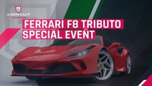 Asphalte 9 Ferrari F8 Tributo Événement spécial