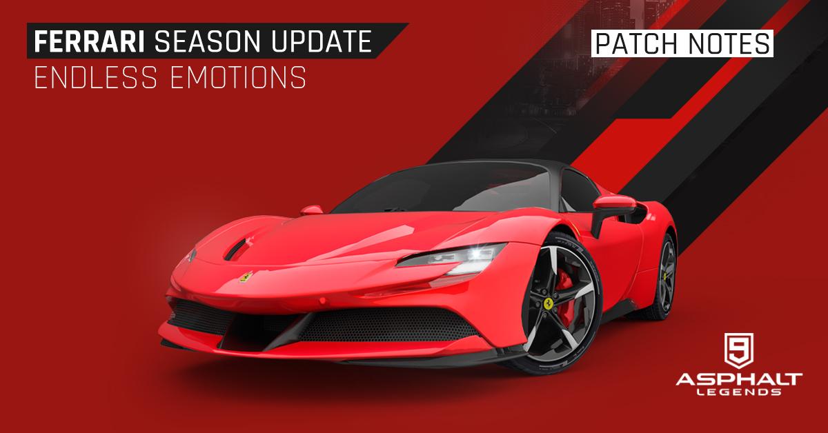 Asphalt 9 Legends Update 15 Ferrari Season