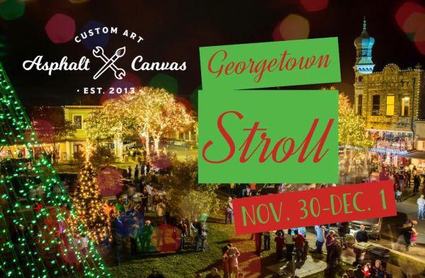 Georgetown Christmas Stroll ACC Art Booth Asphalt