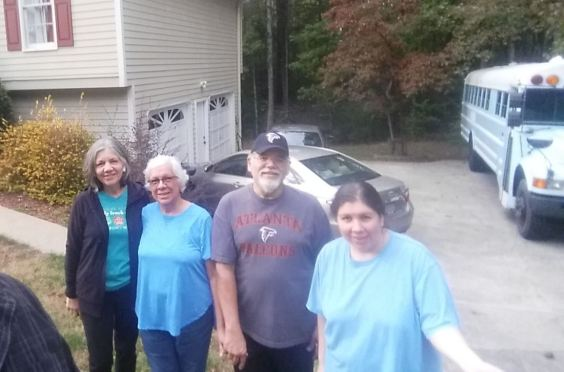 The family, from left to right, Ivette, Mildred, Raul, Michelle
