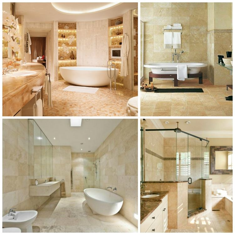 bathroom travertine tile and how to