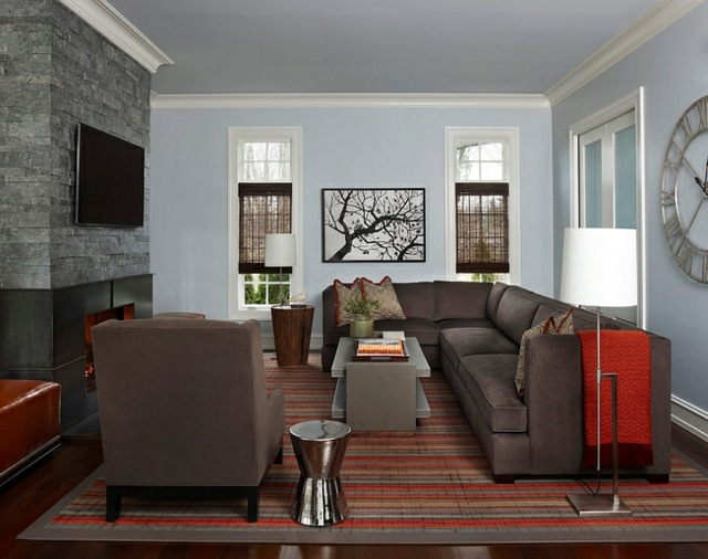 tv mounted above the fireplace a