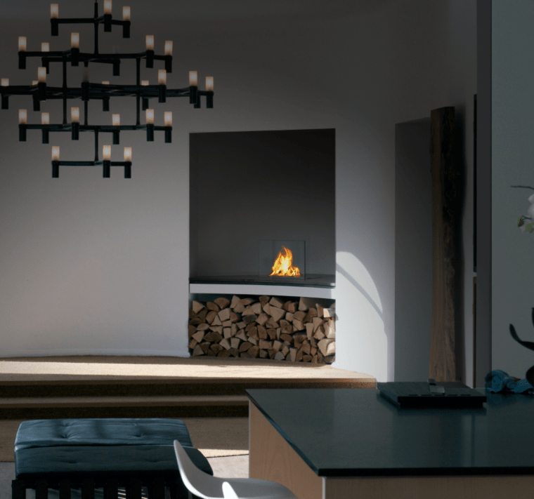 corner fireplace interior design and