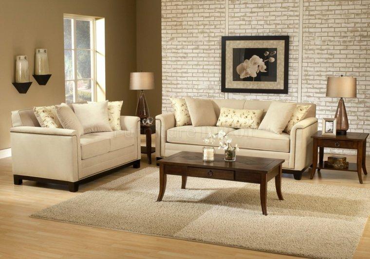 the beige living room is an elegant