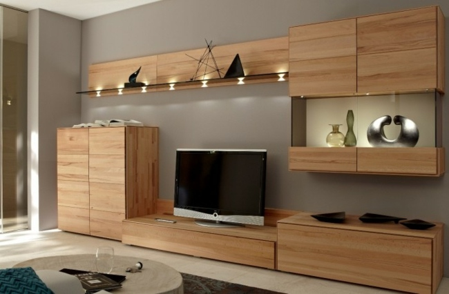 wall cabinets and living room sets by