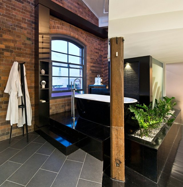 bathroom industrial style examples