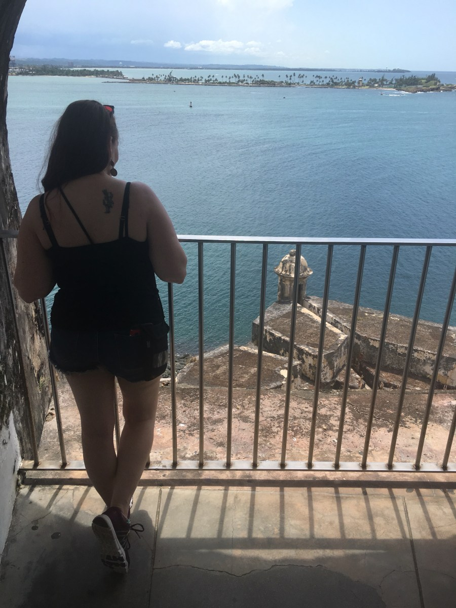 Overlooking the bay in Old San Juan