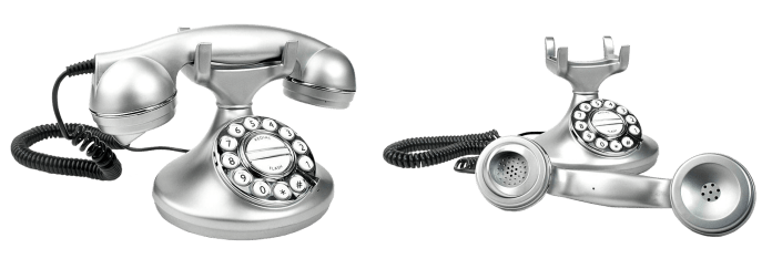 A telephone, lying open and close