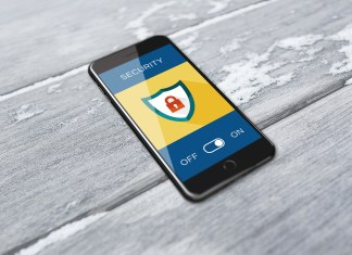 A phone with a stylized security application