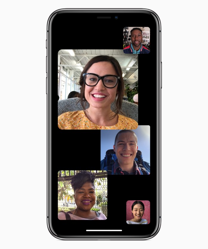 Apple iOS12, Group Facetime, Screenshot | Aspioneer