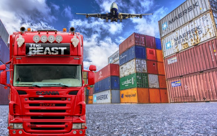 A truck representing field of logistics | Aspioneer