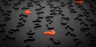 A digital photo of Question Marks waiting to be discovered