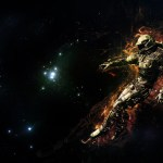 A robot in space, artistic impression