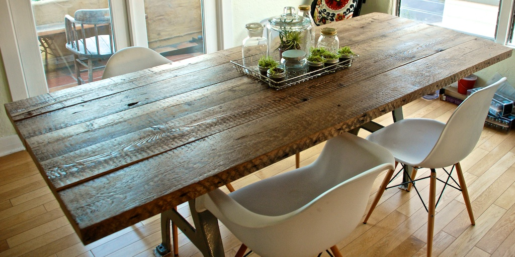 make kitchen table 3 piece diy reclaimed wood the aspirational hipster total