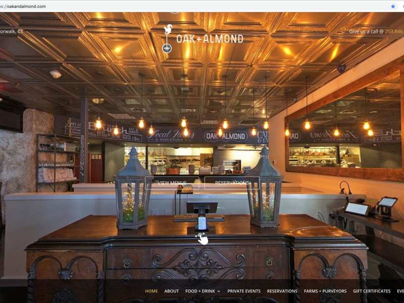 Oak and Almond New Home Page - Website Design Wilton, CT Aspire Digital Solutions
