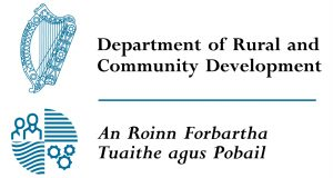 Department of Rural and Community Development / An Roinn Forbartha Tuaithe agus Pobail, Sponsor Emblem and Tag Line (DRCDLogo-300x160)