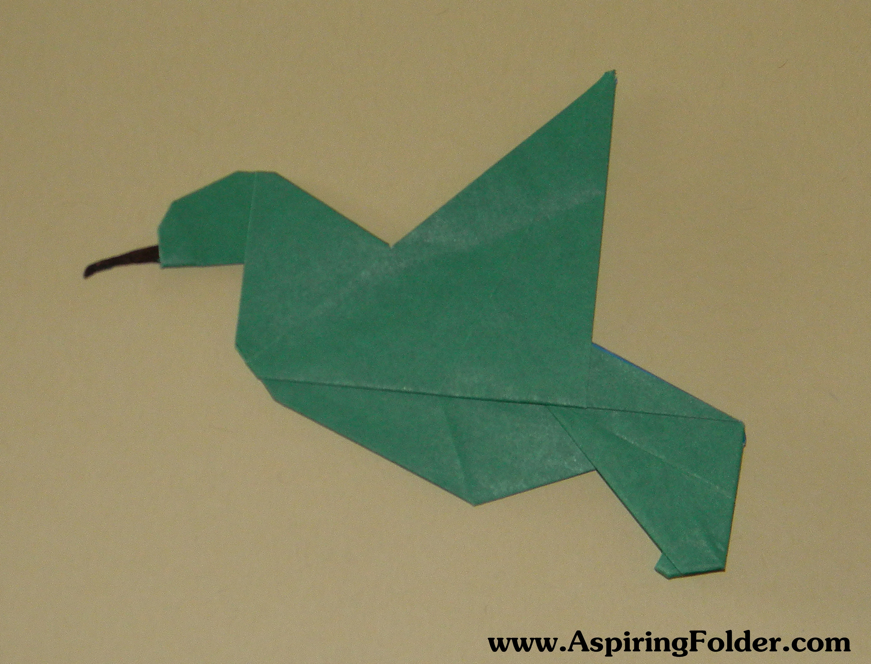 origami hummingbird diagram instructions meyer snow plow wiring aspiring folder