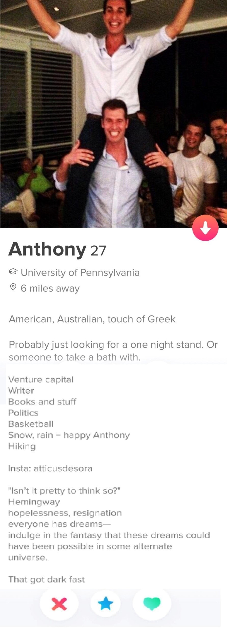 Best tinder bios for guys to get laid