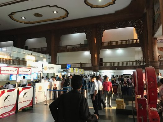 Check in at Yangon Domestic Terminal